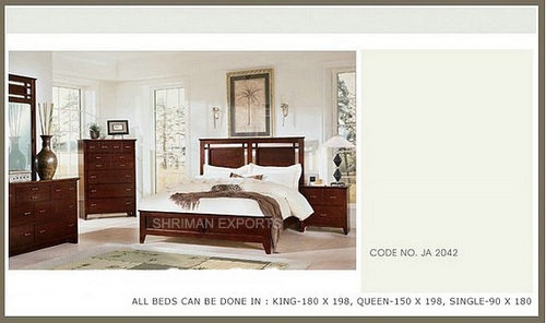 solid wood king size bedroom furniture set in sardarpura