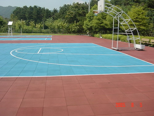 Playground Rubber Flooring Tiles In Qingdao Shandong