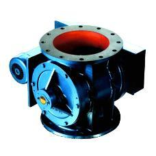 Open Adjustable Bladed Rotary Air Lock Valve