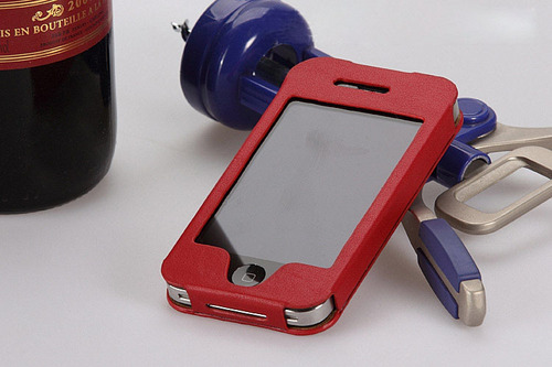 Iphone 4g Leather Case Bag
