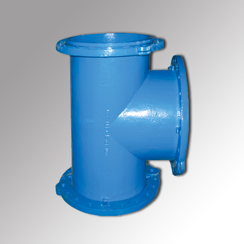 Ductile iron cast pipe all flange tees in baoding hebei