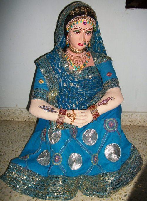 Blue Color Bride Dolls