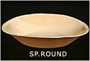 Palm Leaf SP. Round Plates