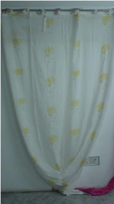Sleek Pattern Cotton Curtains