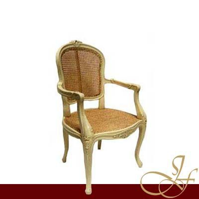 Louis XV Arm-Chair Full Rattan
