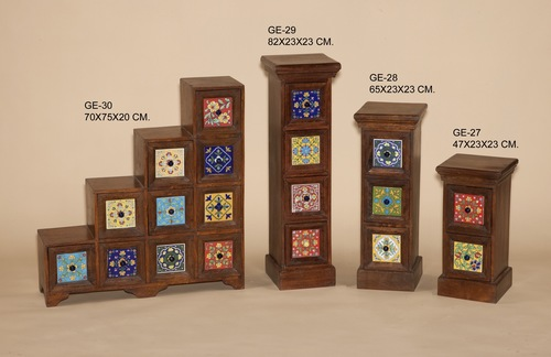 Ceramic Tile Wooden Furnitures
