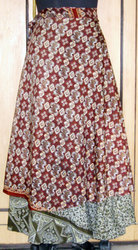 Ladies Gypsy Wraparound Silk Long Skirt
