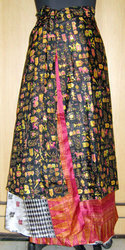 Silk Sarong Gypsy Hippie Long Wraparound Skirt