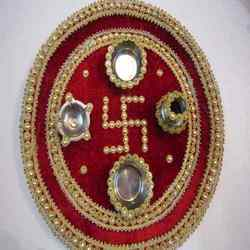 Thali aarti wedding decorative decorated tattoo for Aarti thali decoration with grains