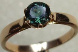 Green Tourmaline Round Rings