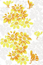 Highlighter Floral Print Tiles