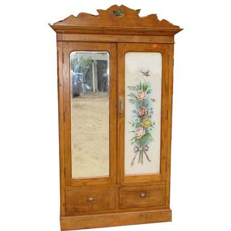 Decorative wooden glass almirah in lajpat nagar ii new delhi delhi india crafts india - Wooden almirah pictures ...