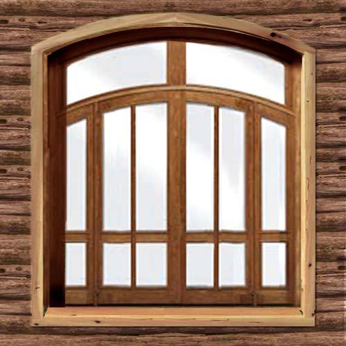 Home Windows Design In India: Wooden Window Frames In Balanagar, Hyderabad, Telangana