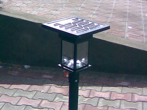solar garden lights in jhargram west bengal india the