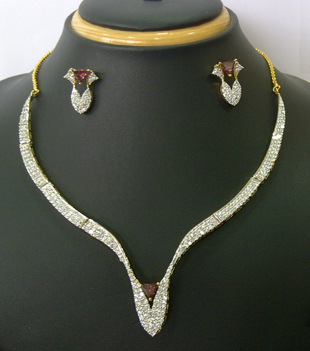 Trendy Vintage Indian Fashion Designer Indian Diamond Jewellery
