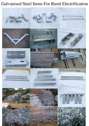 Galvanised Steel Items For Rural Electrification