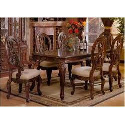 wooden carved dining table in st johns church road bengaluru