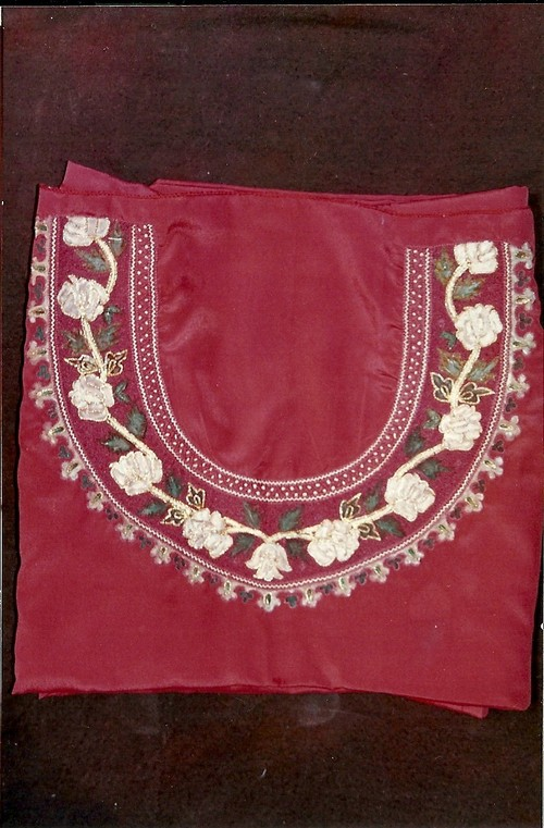 Hand Embroidery Painted Crepe Suit Length In Lucknow