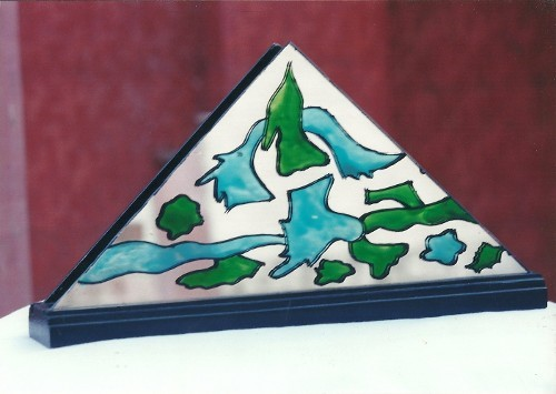 Glass Painted Paper Holder