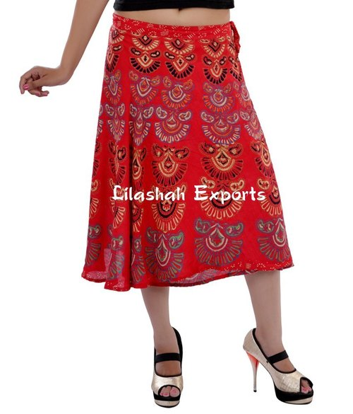 Rayon Red Skirts