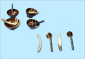 Coconut Shell Spoons