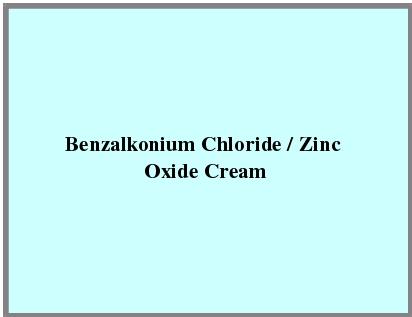 Benzalkonium Chloride / Zinc Oxide Cream