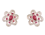 Ruby & diamonds Earrings