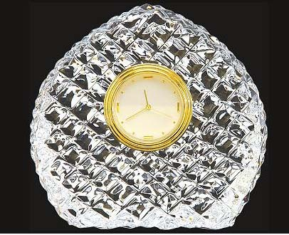 Leaf Shape Crystal Clock