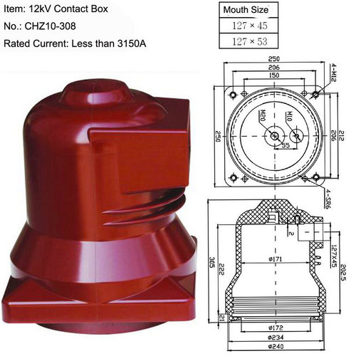 12KV CHZ10-308 Epoxy Resin Contact Box