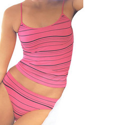 Striped Slip And Panty Set