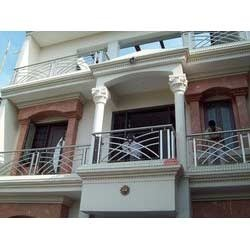 Stainless steel front balcony railings in wazirpur indl for Balcony steel grill design