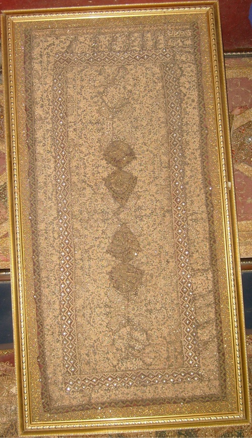 Indian Wall Hanging Zardosi Tapestry