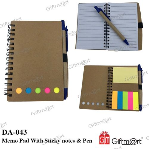 Eco Friendly Note Pad in Bag Shape