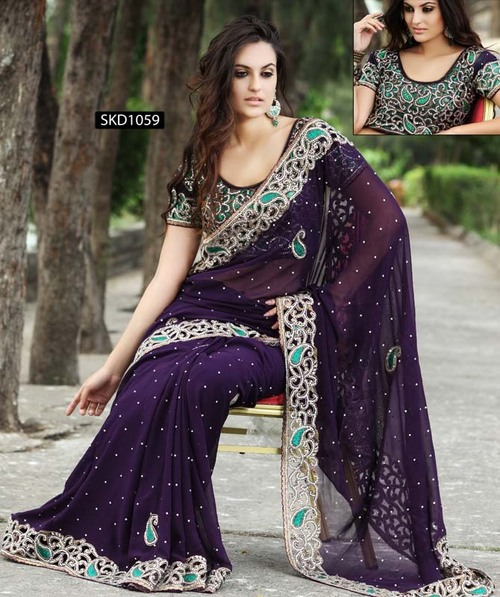Heavy Work Border Sari