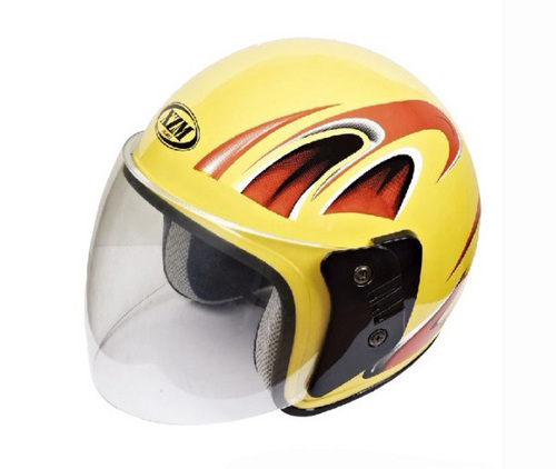 Yellow Half Face Helmet