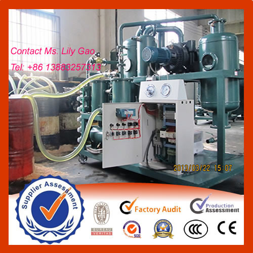 ZYD Double Stage Vacuum Transformer Oil Regeneration Purifier