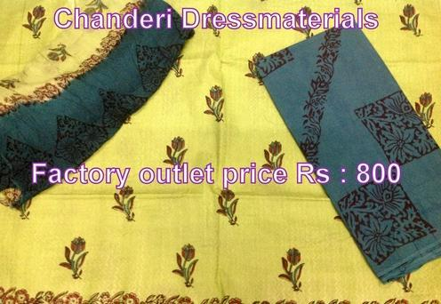 Block Printed Chanderi Dress
