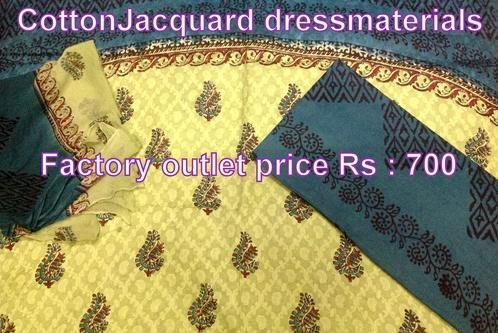 Block Printed Cotton Jacquard