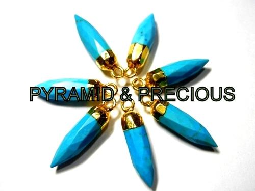 Turquoise Spikes Shape Pendant