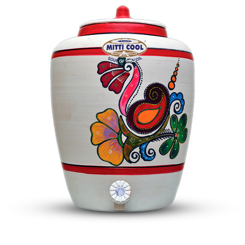 Earthen Water Pot (With Painting 15 Liters)