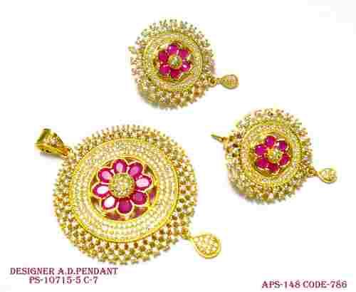 Designer Sun Shape Diamond Pendant