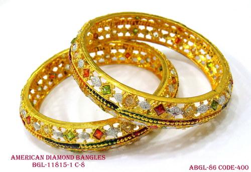 American Diamond Bangles With Attractive Design