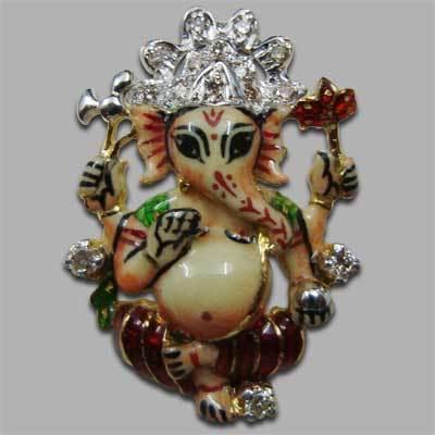 Gold Lord Ganesha Pendant