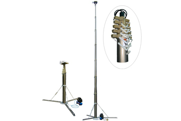 18m Self Standing Pneumatic Telescopic Masts