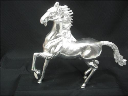 White Metal Horse Running