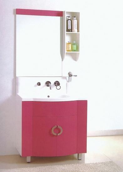 PVC Red Bathroom Cabinet