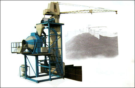 Boom Scrapper Concrete Batching Plant