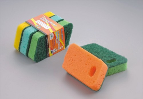 Heavy Duty Hang Design Sponge Scrubber