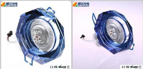 3W LED Crystal Down Lights