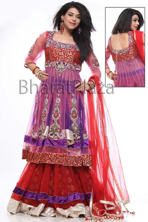 Look Absolutely Maroon Lehenga